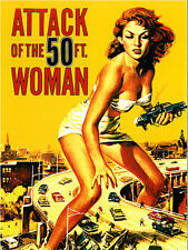 All Sizes! Attack of the 50 foot woman Print Movie Poster Art - HUGE SIZE!