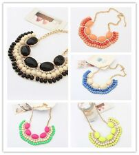 New Fashion Women's Popular Crystal Resin Bib Necklace Hot Selling A1843