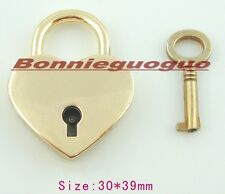 Padlock in the shape of a heart and key, Heart Shaped Padlock, GOLD