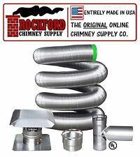 """6"""" 316 Flexible Chimney Liner Tee Kit or Insert Kit with Optional Insulation"""