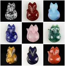 A5389 Carved kinds of stone fox pendant bead
