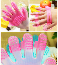 Pets Cleaning Comb Bathing Massage Mitt Glove Grooming Bath Brush For Cats&Dogs