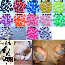 20pcs New Colorful Soft Pet Nail Caps Claw Control Paws off + Adhesive Glue