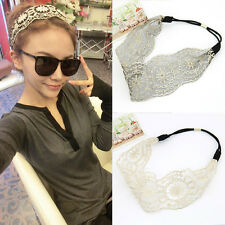 New Womens Girls Hair Accessories Lace Headband Retro Hair Band Wide Head wraps