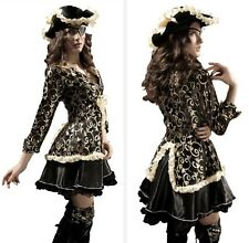 Women Ladies Sexy Deluxe Steampunk Pirate Renaissance Fancy Dress Party Costume