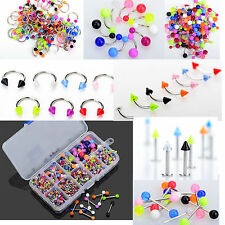 5X Wholesale Colorful Tongue Eyebrow Lip Belly Navel Rings Body Piercing Jewelry