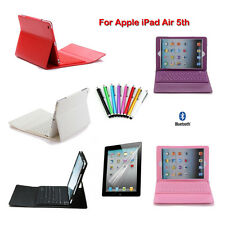 For Apple iPad Air/Air 2 Bluetooth Wireless Keyboard Leather Case Cover Bundle