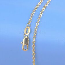 "1PC 16""-30"" 18K Yellow Gold Filled ROLO Necklace Chain GF Stampe For Pendant C12"