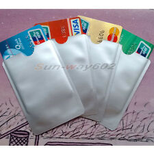 10-15PCS RFID Blocking Credit Card Sleeve Protector Shields for ID/Payment Card