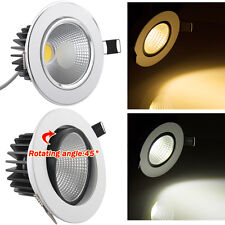 COB LED Recessed Fixture Ceiling Downlight 4W 6W 7W 12W lamp bulb VS halogen 60W
