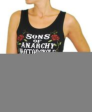 Sons of Anarchy Women's Jrs. Motor Club Roses Tank Top Black  TV Show Biker Gear