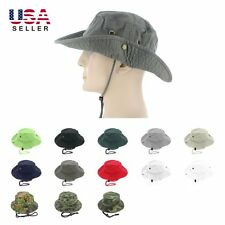 Boonie Bucket Hat Cap 100% Cotton Fishing Military Hunting Safari Summer Men