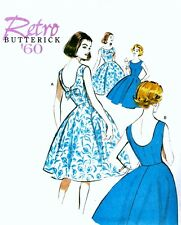 EASY SEWING PATTERN -  RETRO / VINTAGE 60s FULL CIRCLE SUMMER DRESS All Sizes
