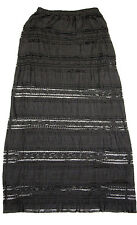 Angie Black Lace 1/2 Lined Sheer Illusion Maxi Skirt NWT