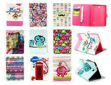 """Wallet card slot Leather Cover Case for Samsung Galaxy Tab 4 10.1"""" 8.0"""" 7.0"""""""