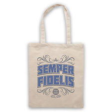 SEMPER FIDELIS ALWAYS FAITHFUL LATIN PHRASE RETRO COOL CANVAS TOTE BAG SHOPPER