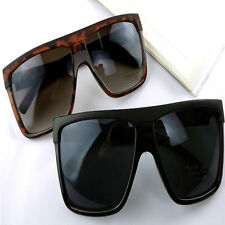 Hot Vintage Women mens Large Frame Unisex Square Sunglasses Flat Top Specta 06