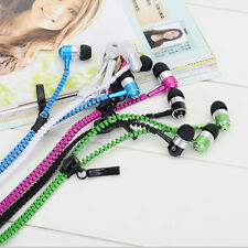 Headset 3.5mm In-ear Zipper Y-cable Tangle-Free Earbuds Earphone Headphone + Mic