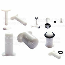 1 X Custom Made Ptfe Labret For Stretched Lip Piercings Ear Plug Conch Handmade