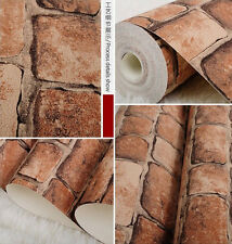 HIGH QUALITY RETRO BRICK WALL FEATURE DESIGNER Cafe Kitchen Office WALLPAPER NEW