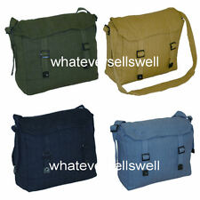 WEBBING HAVERSACK messenger bag army military retro cotton canvas