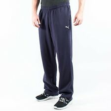 PUMA MENS ESS SWEAT PANTS FLEECE OPEN NEW NAVY 822931 02