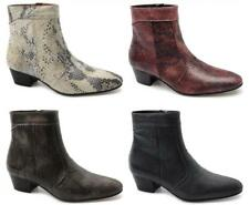 EMMANUEL Mens Snakeskin Leather Spanish Cuban Heel Zip Party Evening Ankle Boots