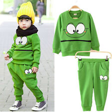 Baby Kids Suits Cartoon Smiling Face Cotton Outfit Twinset Harem Pant Tracksuit