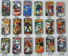 UK Apple iPhone 4 4s 5 5s Marvel DC Superhero Retro Comic Book Phone Case Cover