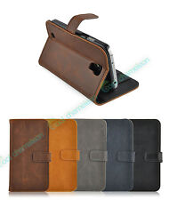Premium Leather Slim Case Flip Cover Wallet Stand For New Samsung Galaxy S4, SIV