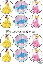 PRE-CUT Disney princess 2 edible cake decoration toppers, Birthday girl