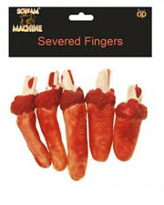 Fancy Dress Halloween Severed Fingers Prop Decoration Thumb Bloody Torture Chop