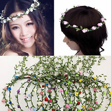 Refine Boho Lady Floral Flower Festival Wedding Garland Forehead Hair Band Head