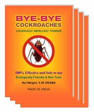 4 Packs Lot of COCKROACH REPELLENT POWDER Eco-Friendly and Safe to use at home