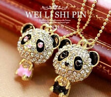 Fashion 2 Colors Crystal Lovely Elegant Lovely Panda long Necklace