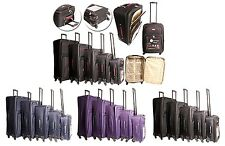 EXTRA LIGHTWEIGHT SUITCASE CABIN TROLLEY LUGGAGE TRAVEL CASE 4 WHEEL LARGE SMALL