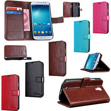 Luxury Leather Flip Wallet Cell Phone Case Skin For Samsung Galaxy S4 SIV i9500