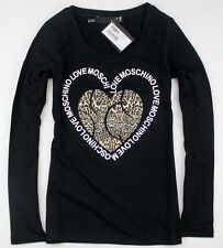 Love 19656 Lady's Leopard heart with Moschino Top/T-shirt 3 Colors Sz S/M/L/XL