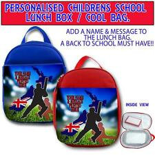PERSONALISED NEW ZEALAND CRICKET KIDS SCHOOL LUNCH BOX NURSERY COOL BAG ST293