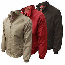 Mens Harrington Jacket Carabou Full Zip Mod Scooter Retro Bomber New  Superb Zip