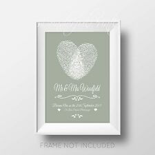 Unique Personalised Wedding Gift Print Couples, Anniversary 1st,10th,25th,50th