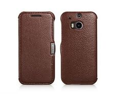 Magnetic Genuine Real Leather Flip Card Holder Case Cover for HTC ONE M8