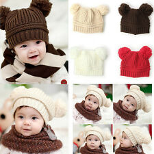 Winter Warm Girl Boy Baby Kid Toddler Hats Rabbit Ear Flap Knit Sweater Crochet