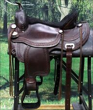 "TT107- HILASON FLEX-TREE TRAIL PLEASURE WESTERN SADDLE 15"" 16"" 18"""