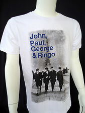 THE BEATLES-John, Paul, George & Ringo-T-Shirt-One Sided Image-2014 Apple Corp