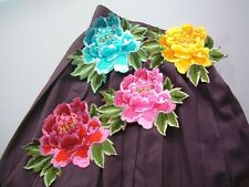 Motif Blooming Flower Embroidered Iron Applique Or Diy Sewing Patch 15cmX20cm
