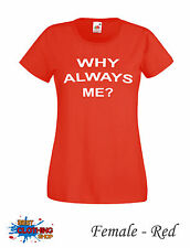 WHY ALWAYS ME BALOTELLI FOOTBALL LIVERPOOL ANFIELD  Female T-SHIRT XS-XXL Red