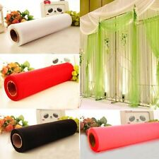New 70CM X 27M 1 Roll CRYSTAL ORGANZA ROLL SHEER FABRIC WEDDING PARTY CHAIR BOW