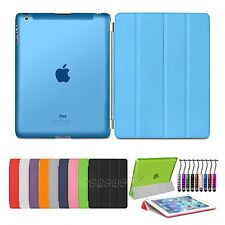 Ultra Thin Magnetic Smart Case Cover + Back Case For New Apple iPad 2 iPad 3 4