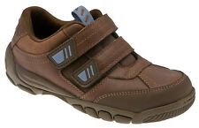 New Boys' Start-rite 'Free Kick' Leather Shoe In Brown and Black